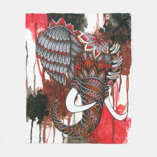 Royal Elephant Fleece Blanket