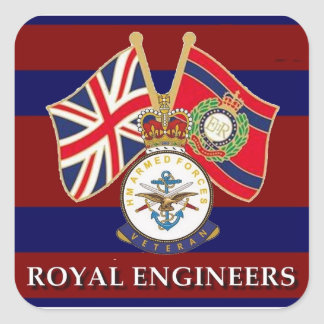 royal engineers square sticker