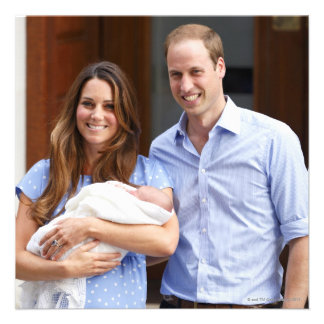 Royal Family at Lindo Wing 2 Personalized Invites