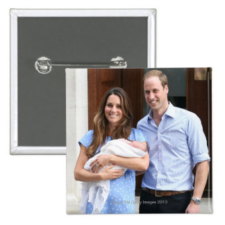 Royal Family at Lindo Wing 3 15 Cm Square Badge