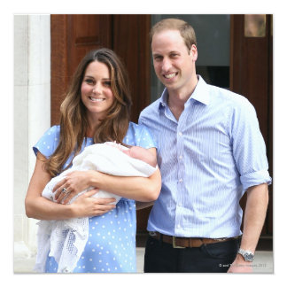Royal Family at Lindo Wing 3 5.25x5.25 Square Paper Invitation Card