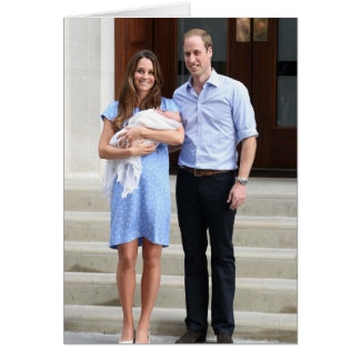 Royal Family at Lindo Wing Greeting Card