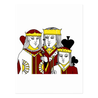 Royal Family portraiture card game poker items Postcard