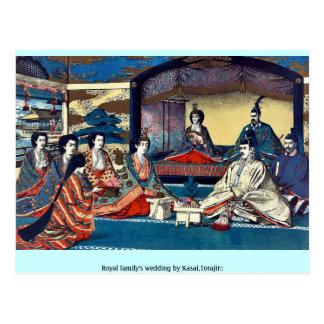 Royal family's wedding by Kasai,Torajirō Postcards