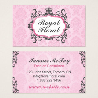 Royal Floral Crown Business Card