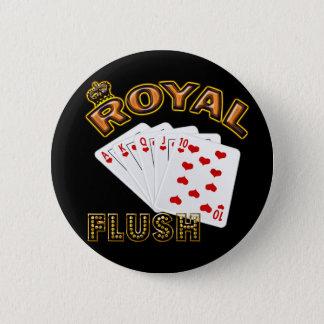 ROYAL FLUSH 6 CM ROUND BADGE