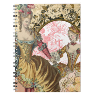 Royal French Fashion Flowers and Frame Notebook