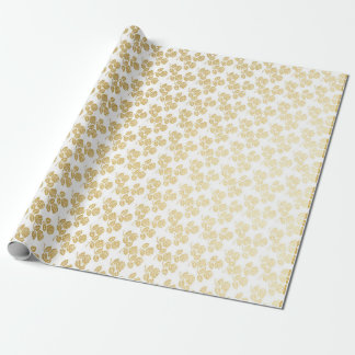 Royal Glam Golden Roses Princess Wrapping Paper