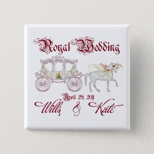 Royal Glass Coach Commemorate the Royal Wedding 15 Cm Square Badge