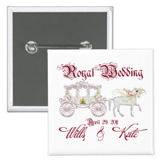 Royal Glass Coach Commemorate the Royal Wedding Pin