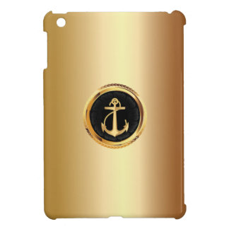Royal Gold Anchor Metal Look iPad mini Case