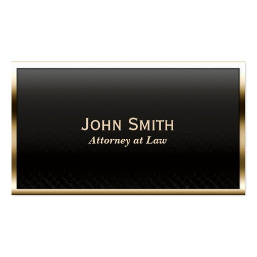 Royal Gold Border Attorney Business Card