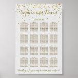 Royal Gold Foil Wedding Seating Chart