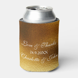 Royal Golden Shiny Save The Date Cooler