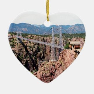 Royal Gorge Bridge,  the highest in USA Ceramic Heart Decoration