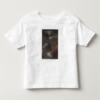 Royal Gorge, CO - Moonlight View of Train in Toddler T-Shirt