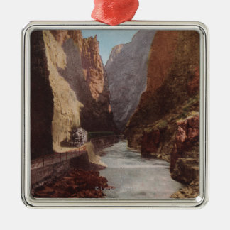 Royal Gorge, CO - View of Train , River Christmas Ornament