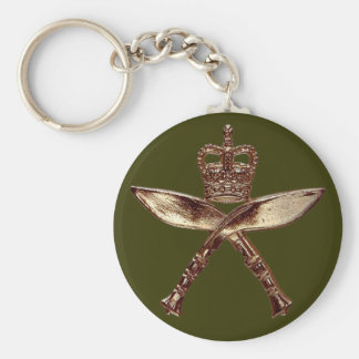 Royal Gurkha Insignia Basic Round Button Key Ring