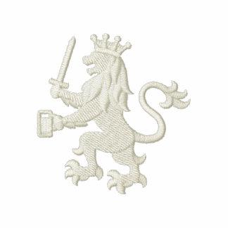 Royal Heraldic Lion with Beer Mug Embroidered Polo Shirts