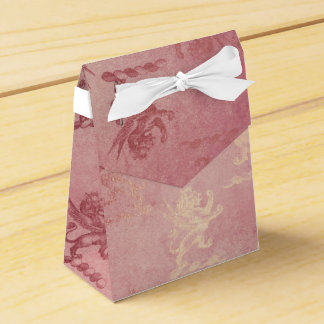 Royal Heraldic Lions Glam Rose Gold Party Favour Box