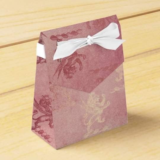 Royal Heraldic Lions Glam Rose Gold Party Favour