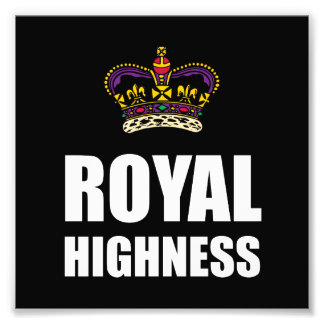 Royal Highness Crown Photograph