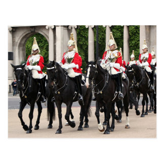Royal Household Cavalry, London, England Postcard
