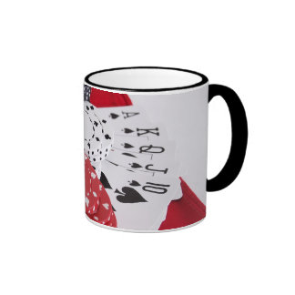 Royal in Spades Ringer Mug