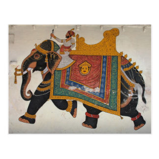 Royal Indian Elephant Postcard