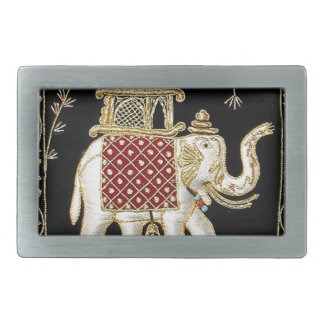 ROYAL INDIAN ELEPHANT  RIDE ZARI ART BELT BUCKLES