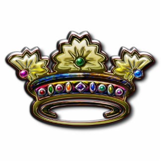Royal jeweled crown Photo Sculpture