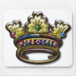 Royal jewelled crown mousemats