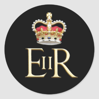 Royal Jubilee Insignia Round Sticker