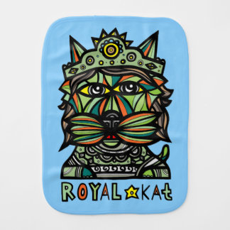 """Royal Kat"" Burp Cloth"