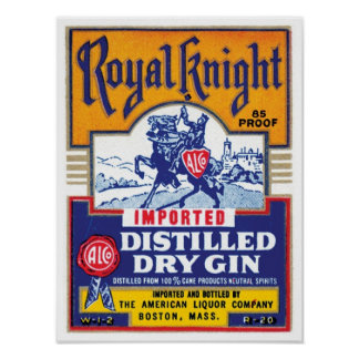 Royal Knight Distilled Gin Poster
