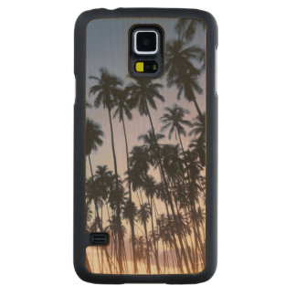 Royal Kupuva Palm Grove at Kaunakakai Carved Maple Galaxy S5 Case
