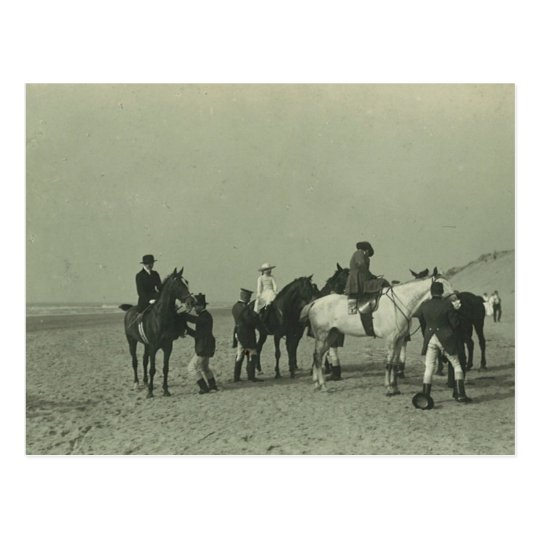 Royal ladies on beach sidesaddle #015SS Postcard