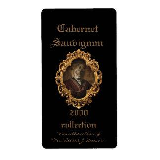 Royal Lion King Framed Portrait Wine Label