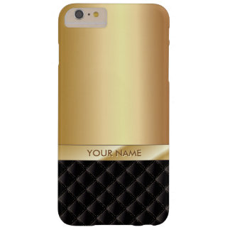 Royal Luxury Gold with Custom Name Barely There iPhone 6 Plus Case