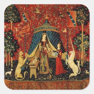 Royal Maiden and Unicorn Square Sticker