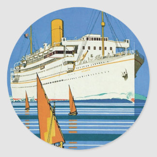 "Royal Mail ""Atlantis Cruises"" Classic Round Sticker"