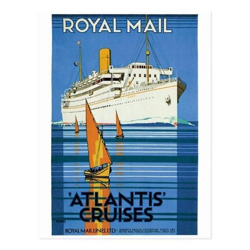 """Royal Mail """"Atlantis Cruises"""" Post Card"""