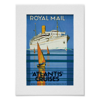 "Royal Mail ""Atlantis Cruises"" Poster"