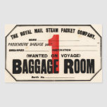 Royal Mail Steam Packet Co Stickers En Rectangle