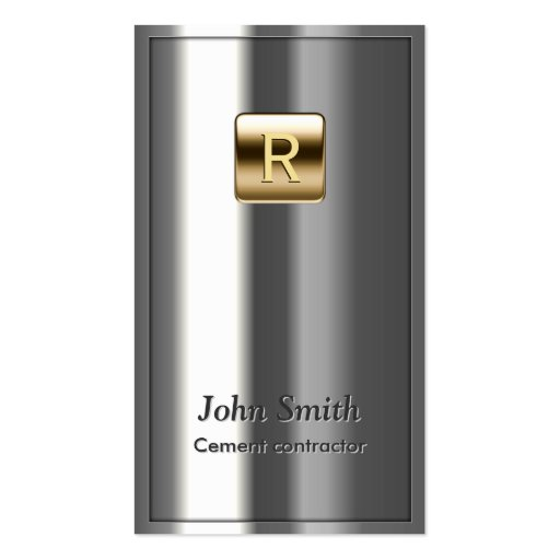 Royal Metallic Cement Contractor Business Card