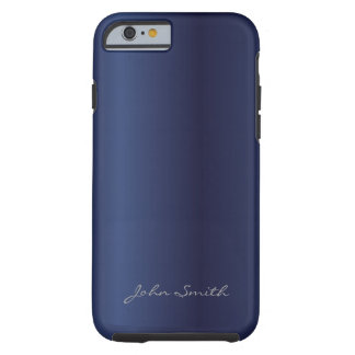 Royal Midnight Blue with Custom Name iPhone 6 case Tough iPhone 6 Case