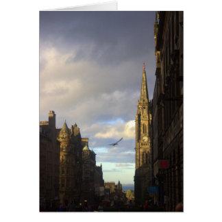 Royal Mile in Edinburgh Card
