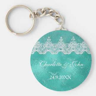 Royal Mint Blue Save The Date Key Round Gift Key Ring