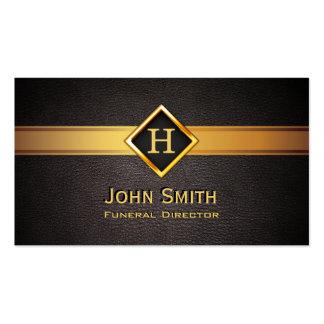Royal Monogram Gold Label Funeral Business Card
