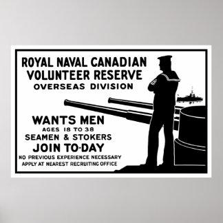 Royal Naval Canadian Volunteer Reserve Poster